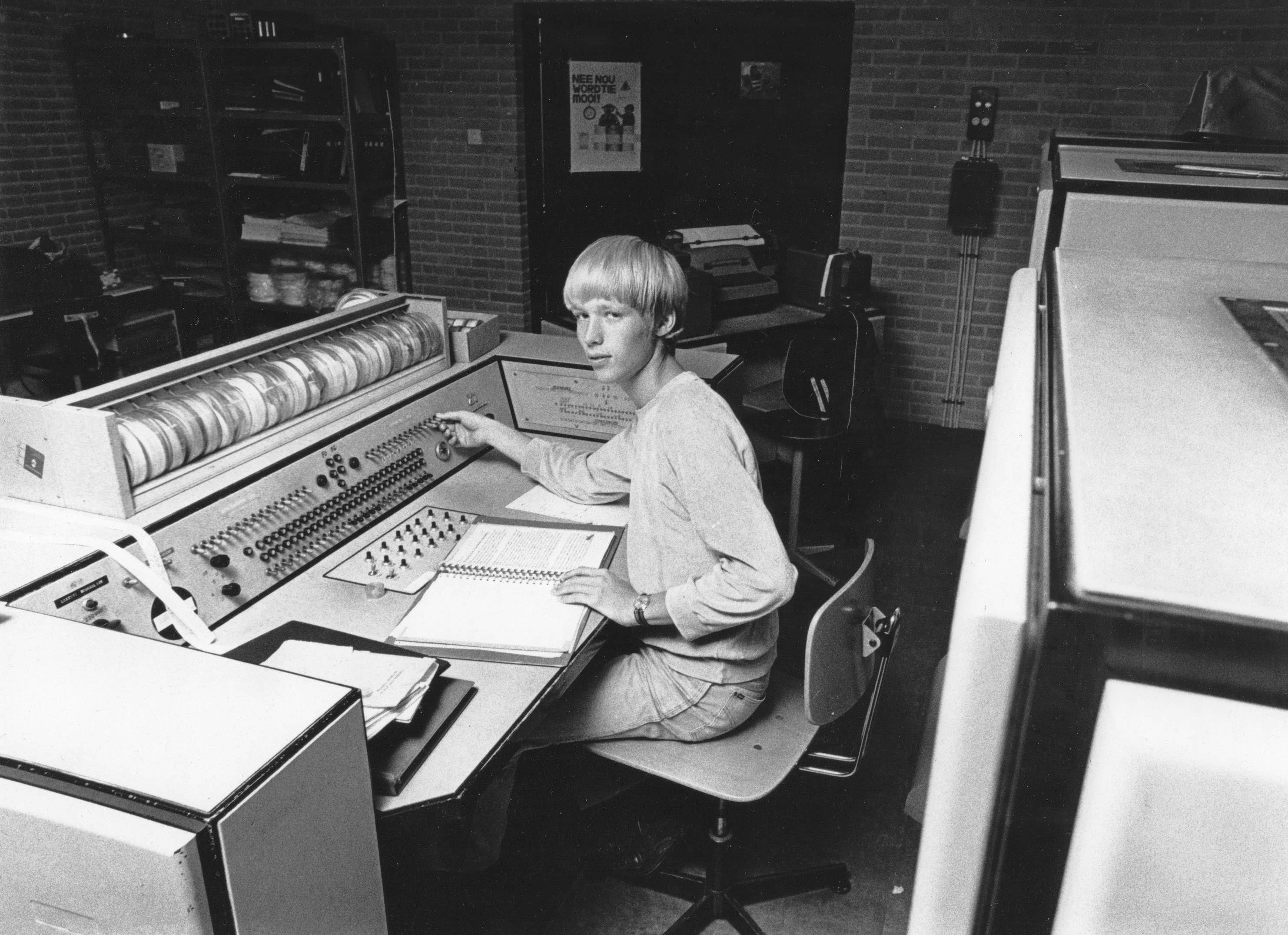 Me in October 1979 behind an old X1 from Electrologica, the first commercial computer in the Netherlands. It shows my early interest for computers.